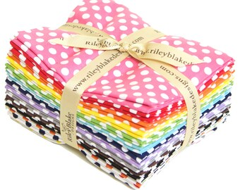 Basic Small Dots Fat Quarter Bundle by Riley Blake