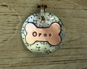 Custom pet ID tag- personalized mixed metal tag for dogs and cats- the Mack