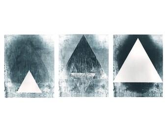 Triad print, set of three