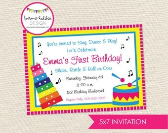 DIY Music Birthday Party INVITATION ONLY