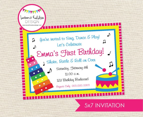 DIY Music Birthday Party INVITATION ONLY by LaurenHaddoxDesign: https://www.etsy.com/listing/110824760/diy-music-birthday-party...