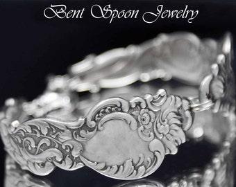 Spoon Bracelet, Antique Vintage Columbia 1893 Ornate Spoon Bracelet..Silver spoon  Jewelry