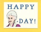 BEA ARTHUR BIRTHDAY Card - Funny Birthday Card - Bea Arthur Card - Bea Arthur - Happy Bea Day - Adult Funny Birthday Card - Birthday Card