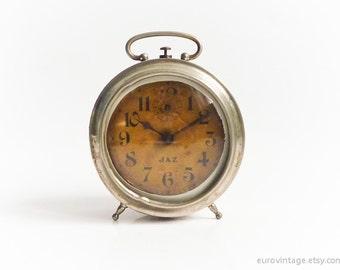 Antique 1920 French Alam Clock JAZ Paris Working 20s 30s