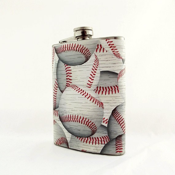 Baseball Wedding Gifts: Items Similar To Baseball Flask For Men, Guys Gift