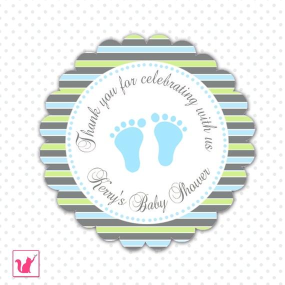 Druckbare personalisierte Streifen Füße Baby Babyparty   Etsy