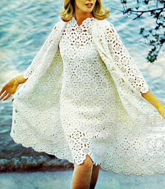 Elegant Crocheted Dress W/Coat & Jacket - MADE TO ORDER