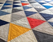 Twin Sized Modern Triangle Quilt - Custom Listing