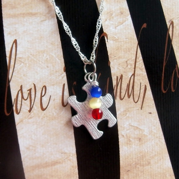 Autism, PDD, Asperger's Syndrome Awareness Necklace - Sterling Silver