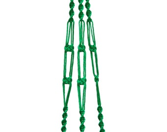 40 inches 3mm Green Strong Macrame  Plant  Hanger Hanging Planter