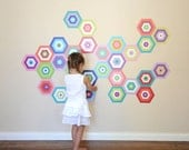 Puzzling Tiles Eco-Friendly Reusable Fabric Wall Decals by Pop & Lolli