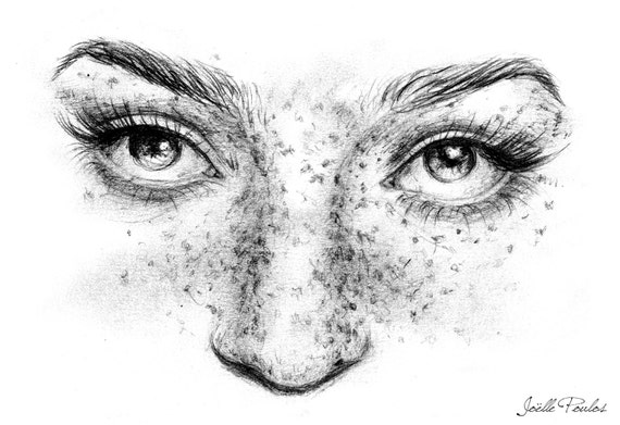 how to draw freckles on paper