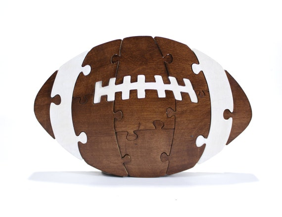 Football Puzzle and Children's Decor made from Wood - Children's Toy