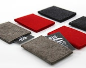 Thin Wallet Card Case Credit Card Wallet ID Wallet  Business Card Holder Slim Wallet Card Holder Cash Pocket RedHotTrioColors