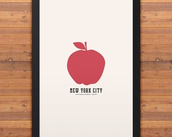 "NEW YORK Minimalist City Poster - 12"" x 18"""