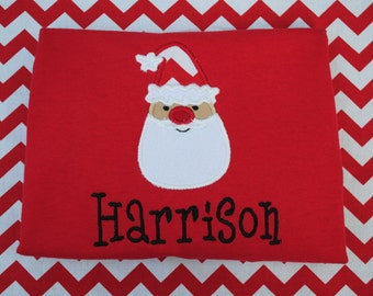 Santa Face with monogram