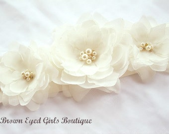 Ivory Bridal Sash, Ivory Bridal Sash, Ivory Wedding Belt, Ivory Bridal Belt