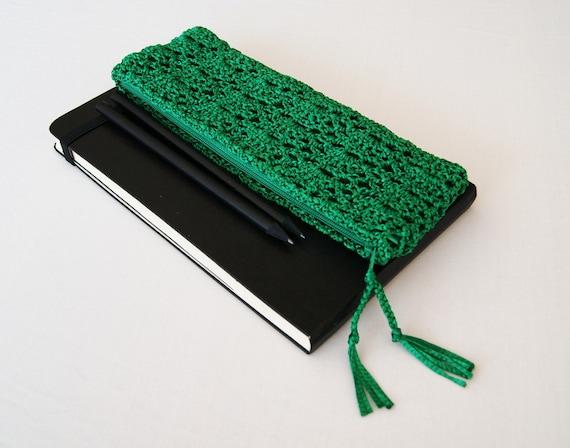 Emerald Green Crochet Pencil Case Shamrock Green by ...