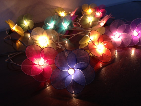 20 Bulbs Fantasy Flower string lights for PatioWeddingParty