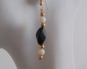 Blackstone and Mother of Pearl Earrings