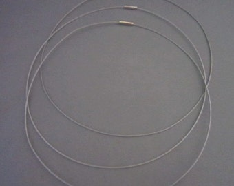 "18"" Silver Magnetic Neckwire for Pendants"