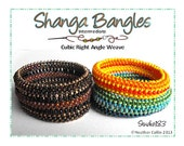 Beading Pattern Cubic Right Angle Weave Wide Bangle Cuffs Beading Tutorial SHANGA BANGLES