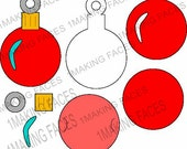 Christmas Ornament, Gift Card Holder Option, Super Simple, SVG Cutting Files Kit