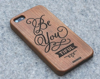 Wooden iPhone 5/5s case - Be you tiful
