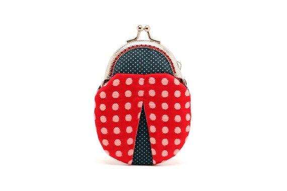 Magical ladybug mini coin purse