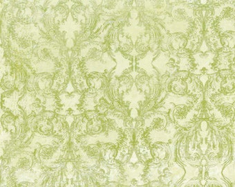 LAST YARD - Provencial Olive Scroll Quilting fabric by Iron Orchid Designs for Clothworks