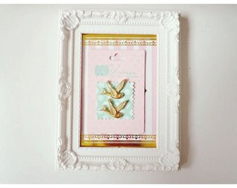 Resin Gold Bird Cameo/ Cabochons embellishment