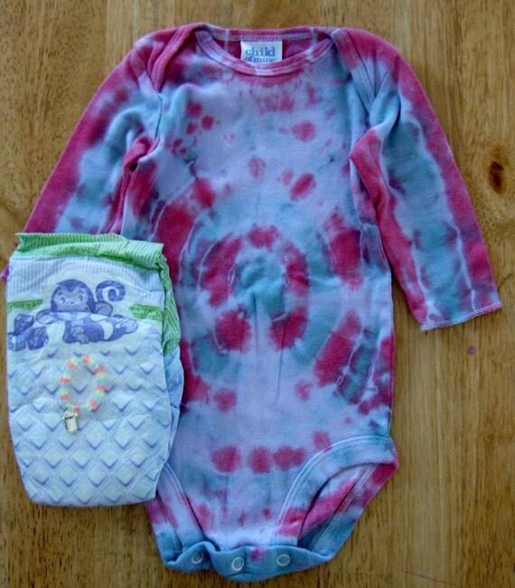 Reborn baby doll clothes 3 6 months Tie Dye onesie Diaper