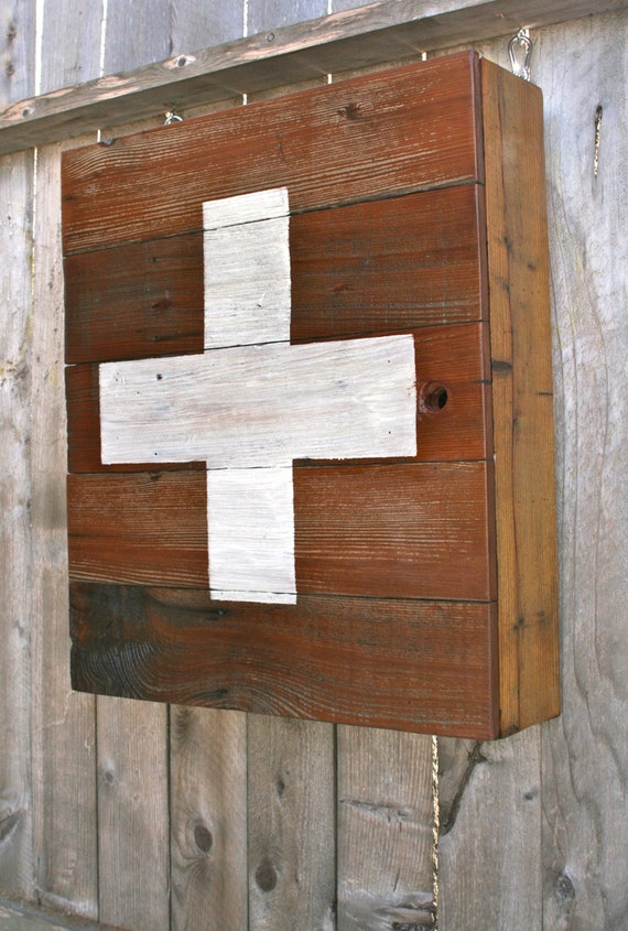 Wood Medicine Cabinet - Reclaimed Wood Medicine Cabinet WB Designs