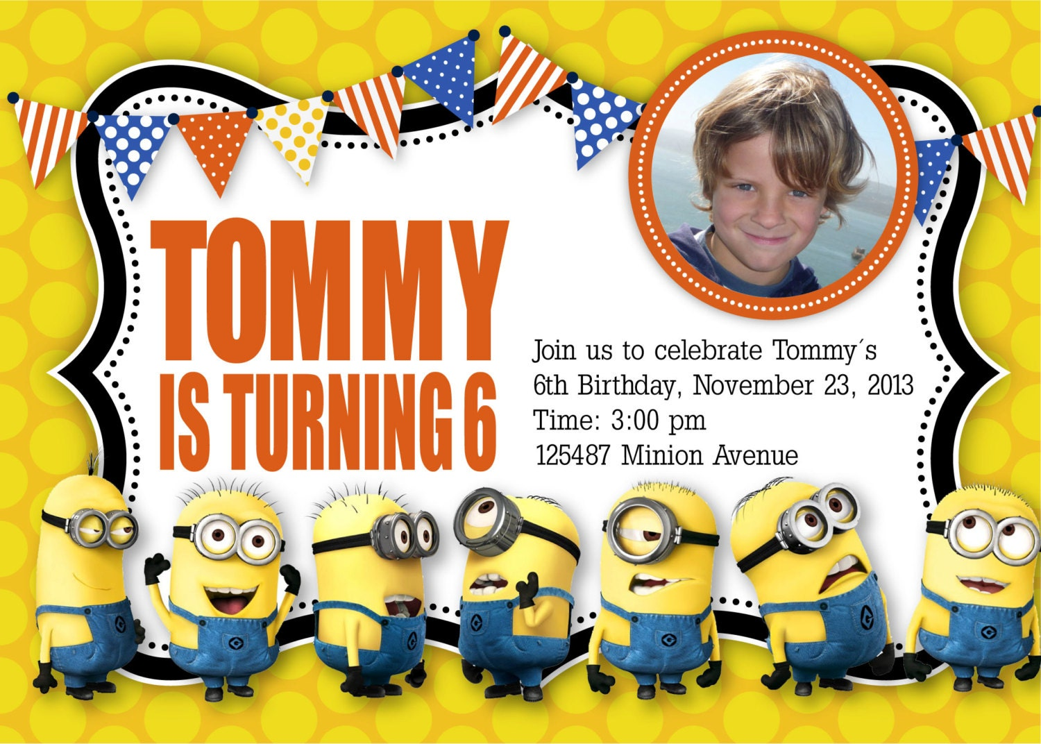 40th Birthday Ideas: Minion Birthday Invitations Templates ...