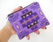 Tribal small zipper pouch