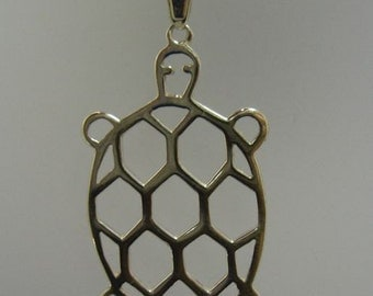 PE000805 Sterling silver pendant solid 925 Turtle