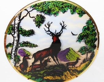 Wall Plaque Art Kitsch Vintage 1950s - Stag