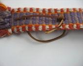 hand-woven wool guitar strap inkle belt