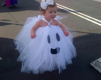 PRE ORDER Halloween Ghost Tutu Dress, Halloween Ghost Tutu-Baby Costume-Toddler Costume,Litte Ghost