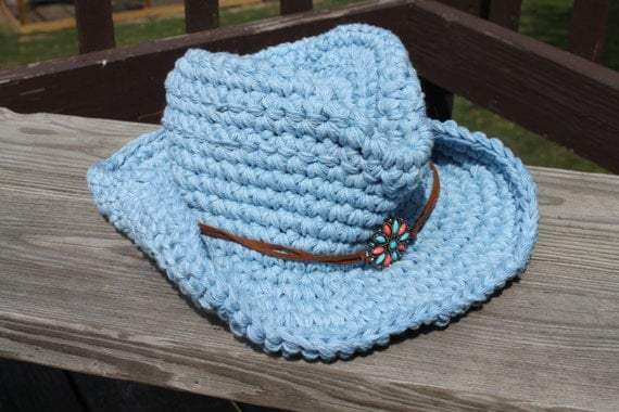 Free Crochet Cowboy Hat Pattern For Adults : Unavailable Listing on Etsy