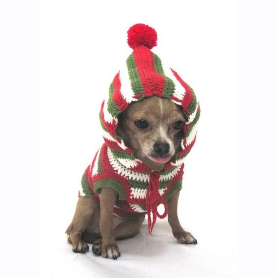 Items similar to Christmas Dog Hoodie Hand Crochet Cute Dogs ...