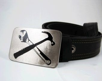 DIY Belt Buckle - Stainless Steel - Handmade