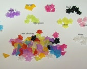 5 pair small wide open front Acrylic Flower Beads 10mm x 4mm ... your color choice