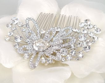 Carlotta - Vintage style Rhinestone Hair Comb