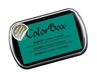 Colorbox Pigment Ink Pad (Full Size) - Emerald - NEW COLOR