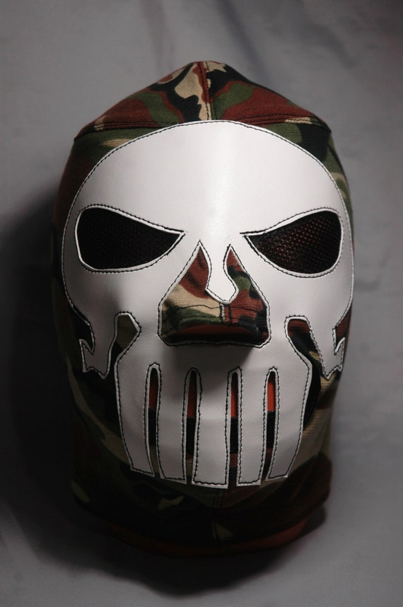 punisher camouflage wrestling killer mask