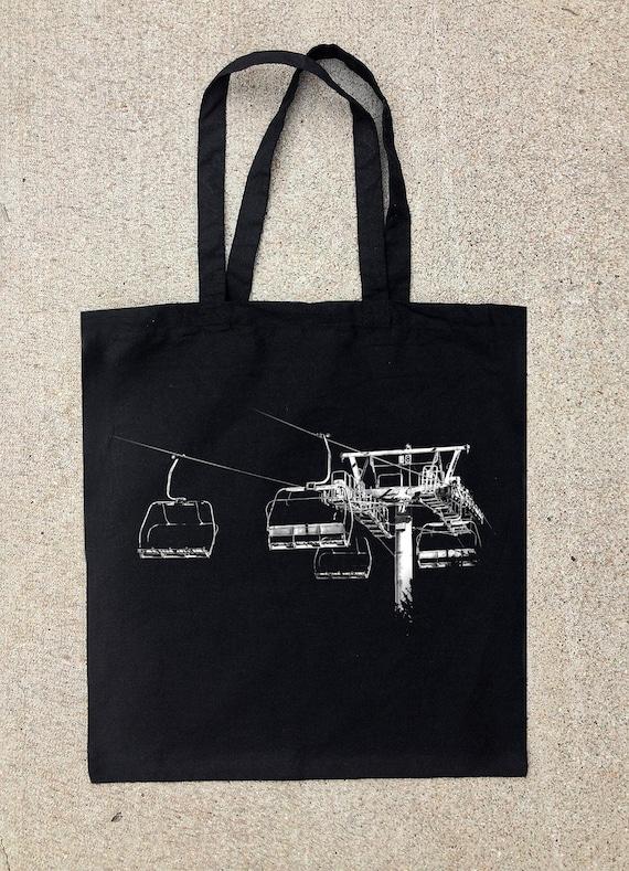 black cotton canvas tote bag lift 8 by blacklanternstudio on etsy