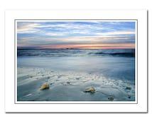 Beach Sunrise Note card with Envelope, Seashells Photo Card, Blank Photo Card, Birthday, Thank You Card