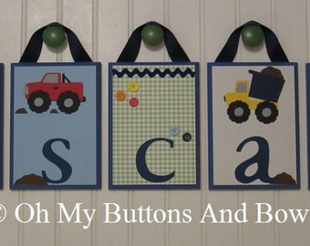 Hanging Name Plaques Blocks Nursery Decor Wall Letters