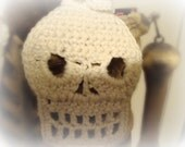 Crochet Skull Applique Pattern